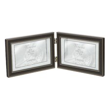 <strong>Lawrence Frames</strong> Hinged Double Horizontal Picture Frame