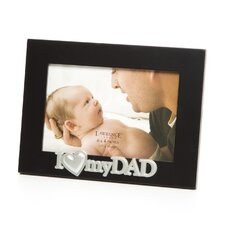 Silver Sentiments Dad Picture Frame