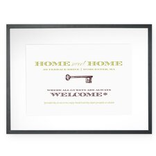 Personalized Welcoming Warning Framed Graphic Art