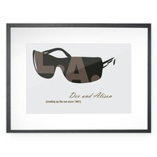 Personalized Shades of Los Angeles Framed Graphic Art