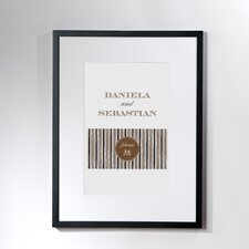 Personalized Scrolled Framed Graphic Art