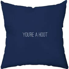 You're a Hoot Throw Pillow