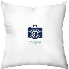 Say Cheese Outdoor Throw Pillow
