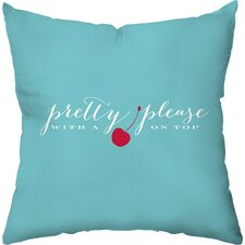 Pretty Please Outdoor Throw Pillow