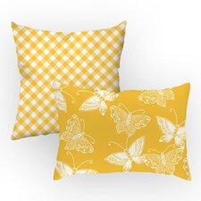 2 Piece Flutter Throw Pillow Set