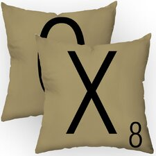 Letters of Affection Throw Pillow (Set of 2)