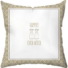 Wedding Two Gowns Throw Pillow