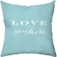 Love the Seashore Throw Pillow