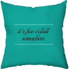 Drink O'Clock Throw Pillow