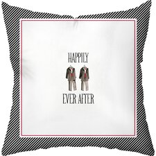 Wedding Two Tuxes Throw Pillow