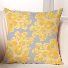 Coral Polyester Throw Pillow