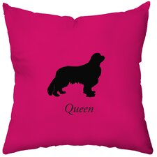 Personalized Spaniel Poly Cotton Throw Pillow