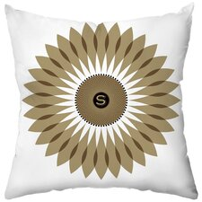 <strong>Checkerboard, Ltd</strong> Personalized Sunflower Seeds Poly Cotton Throw Pillow