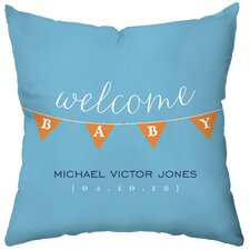Personalized Baby Banner Polyester Throw Pillow