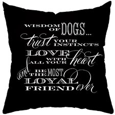 Dog Wisdom Polyester Throw Pillow