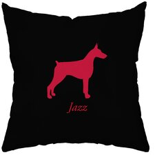 <strong>Checkerboard, Ltd</strong> Personalized Doberman Polyester Throw Pillow