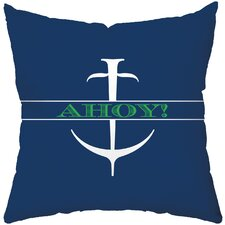 Ahoy Poly Cotton Throw Pillow