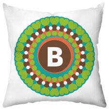 Personalized Funky Flowers Poly Cotton Throw Pillow
