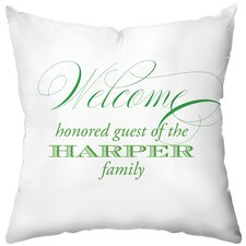 Personalized Just Wondering! Polyester Throw Pillow