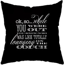 Dog Confessions Poly Cotton Throw Pillow