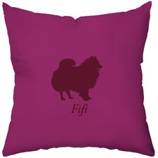 Personalized Pomeranian Poly Cotton Throw Pillow