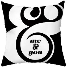 <strong>Checkerboard, Ltd</strong> Me and You Poly Cotton Throw Pillow