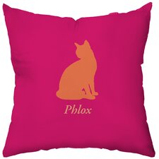 <strong>Checkerboard, Ltd</strong> Personalized Cat's Pajamas Polyester Throw Pillow