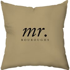 Personalized His Poly Cotton Throw Pillow