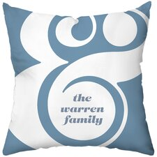 <strong>Checkerboard, Ltd</strong> Personalized Ampersand Polyester Throw Pillow