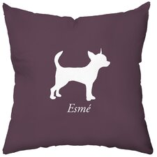 Personalized Chihuahua Polyester Throw Pillow