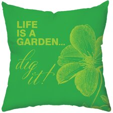 Greenery Poly Cotton Throw Pillow