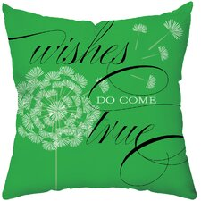 <strong>Checkerboard, Ltd</strong> Wishes Do Come True Poly Cotton Throw Pillow
