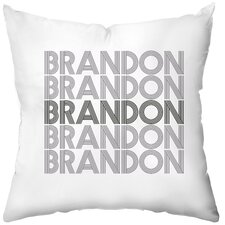 Personalized Electron Poly Cotton Throw Pillow