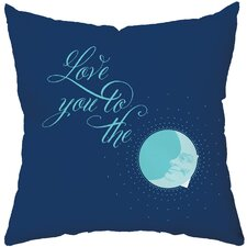 To The Moon Poly Cotton Throw Pillow