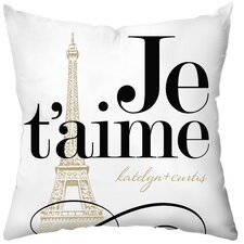 Personalized Je'taime Polyester Throw Pillow