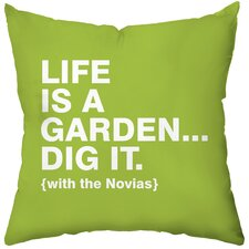 Personalized Dig It Poly Cotton Throw Pillow