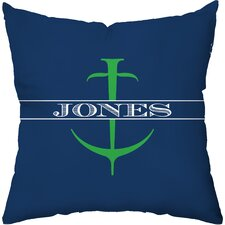 <strong>Checkerboard, Ltd</strong> Personalized Anchor Polyester Throw Pillow