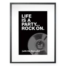 Personalized Life is a Party Framed Graphic Art