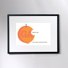 Personalized Life's a Peach Framed Graphic Art
