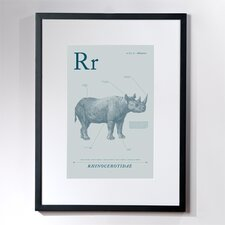Rhino Framed Graphic Art