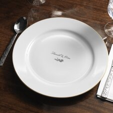 "<strong>Checkerboard, Ltd</strong> Personalized Dianthus 12.25"" Dinner Plate"