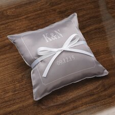 <strong>Checkerboard, Ltd</strong> Personalized Composed Satin Ring Pillow