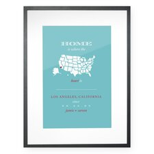 Personalized Los Angeles Home Framed Graphic Art