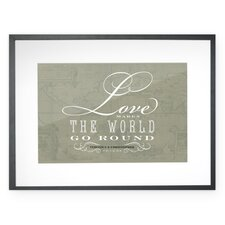Personalized Love Framed Textual Art