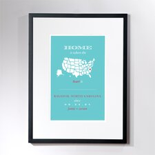 Personalized Raleigh Home Framed Graphic Art