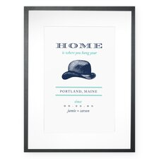 Personalized Hang Your Hat Framed Graphic Art