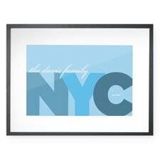 <strong>Checkerboard, Ltd</strong> Personalized New York City Wall Décor