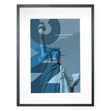 Personalized Lady Liberty Framed Graphic Art