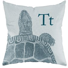 Turtle Poly Cotton Throw Pillow