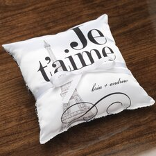 Personalized Vignette Ring Pillow